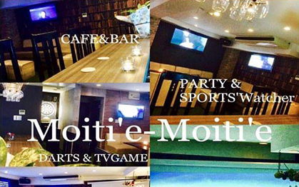 CAFE & BAR  Moiti'e-Moiti'e
